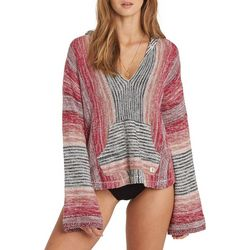 Billabong Juniors Baja Beach Hooded Striped Sweater