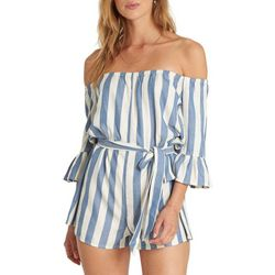 Billabong Juniors Fun For Now Belted Striped Romper