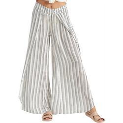 Juniors Striped Fabric Pants