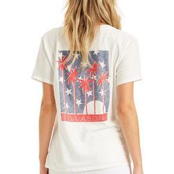 Juniors Americana Trees Graphic T-Shirt