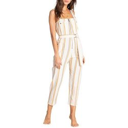 Billabong Juniors Light The Night Belted Striped Jumpsuit