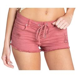 Billabong Juniors Lite Hearted Lace-Up Denim Shorts