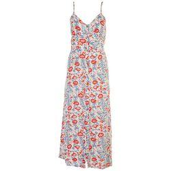 Billabong Juniors Red Floral Midi Dress