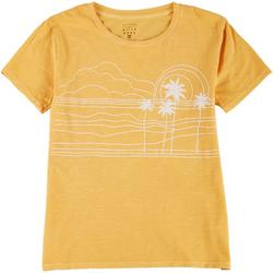 Juniors Palm Tree Graphic Tee