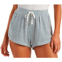 Juniors Road Trip Striped Shorts