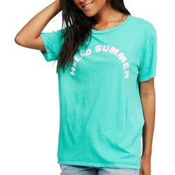 Juniors Hello Summer Oversized T-Shirt