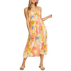 Billabong Juniors Blonde Floral Midi Dress