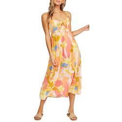 Juniors Blonde Floral Midi Dress