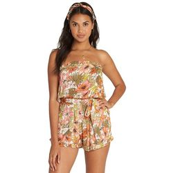 Billabong Juniors Flower Days Strapless Romper