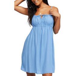 Juniors Scrunched Stripe Dress