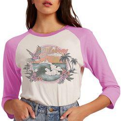 Billabong Juniors Beach View Front Screen Print 3/4 T-Shirt