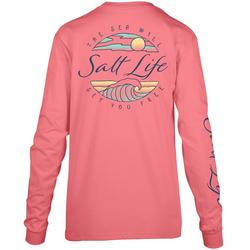Juniors Tranquil Tides Long Sleeve Top