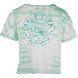 Salt Life Juniors Tie Hem Crop Top T-Shirt