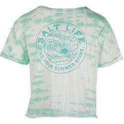 Juniors Tie Hem Crop Top T-Shirt