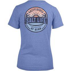 Salt Life Juniors Salty State Of Mind Back Print T-Shirt