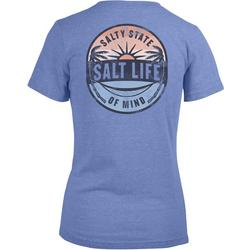 Juniors Salty State Of Mind Back Print T-Shirt