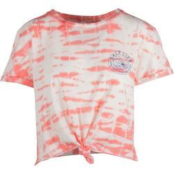 Juniors Summer Stroke Short Sleeve Crop Top