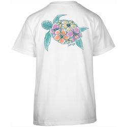 Juniors Turtle Bloom Short Sleeve Top