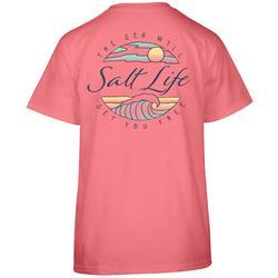 Juniors Wavy Ocean T-Shirt