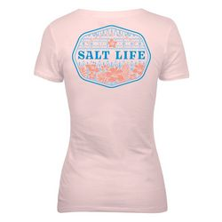 Salt Life Juniors Seaside Vibes V-Neck T-Shirt