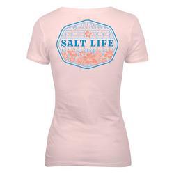 Juniors Seaside Vibes V-Neck T-Shirt