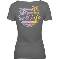 Juniors Beach Front V-Neck T-Shirt