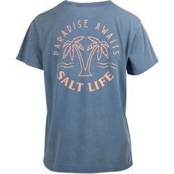 Salt Life Juniors Paradise Awaits Boyfriend T-Shirt