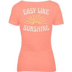 Juniors Easy Like Sunshine T-Shirt