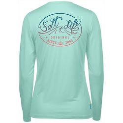 Salt Life Juniors Wave Logo Long Sleeve Top