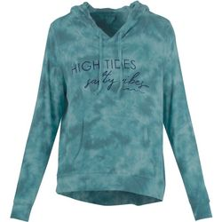 Juniors High Tides Salty Vibes Tie Dye Hoodie