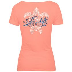 Salt Life Juniors Turtle Logo Screen Print T-Shirt