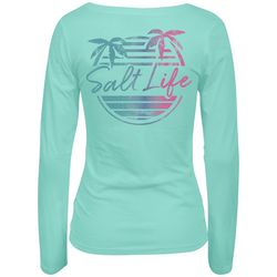 Salt Life Juniors Beachfront Logo Long Sleeve Top