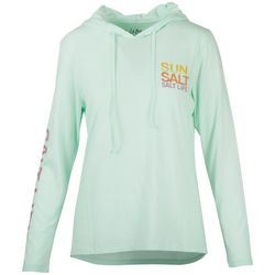 Salt Life Juniors Sun Salt Soul Long Sleeve Hooded Top