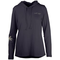 Salt Life Juniors Reflecting Palms Long Sleeve Hooded Top