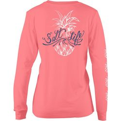 Salt Life Juniors Signature Pineapple Long Sleeve T-Shirt