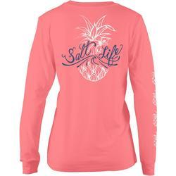 Juniors Signature Pineapple Long Sleeve T-Shirt
