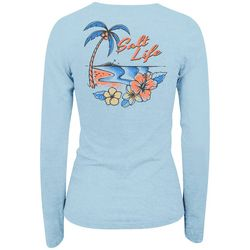 Salt Life Juniors Tropical Beach Logo Long Sleeve Top