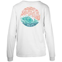 Juniors Salty State Of Mind Long Sleeve Top