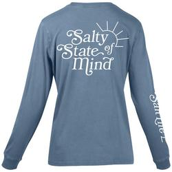 Juniors Salty State Of Mind Crew Neck Top