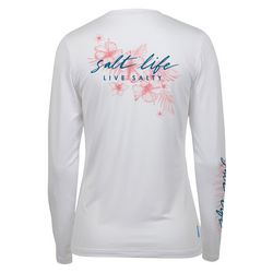Salt Life Juniors Live Salty Logo Long Sleeve Top