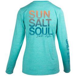 Salt Life Juniors Sun Salt Soul Crew Neck Top