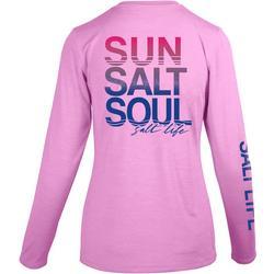 Juniors Sun Salt Soul Crew Neck Top