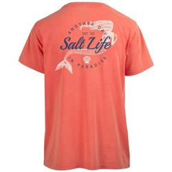 Juniors Mermaid Life Salt Wash Boyfriend T-Shirt