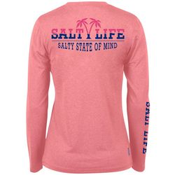 Salt Life Juniors Waving Palms Performance T-Shirt