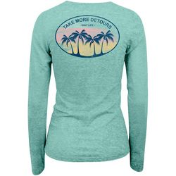 Juniors Take More Detours V- Neck Long Sleeve Top