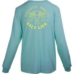 Salt Life Juniors Paradise Awaits Long Sleeve T-Shirt