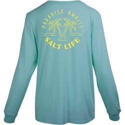 Juniors Paradise Awaits Long Sleeve T-Shirt