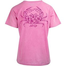 Salt Life Juniors Tropical Crab Pocket T-Shirt