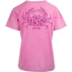 Juniors Tropical Crab Pocket T-Shirt