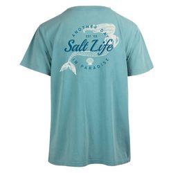 Juniors Mermaid Life Salt Wash Boyfriend T-Shirt